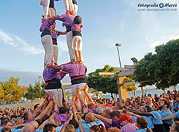 Show castells in Roses, Costa Brava, 16th august 2015
